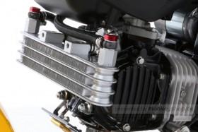 Kitaco Ölkühler Kit 3 Reihen Upper Mount silber/schwarz f. MSX