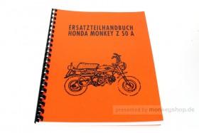 Ersatzteil Handbuch Liste Katalog f. Honda Z50A