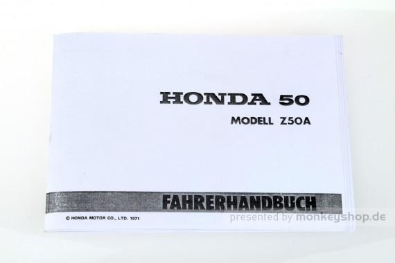 Fahrerhandbuch Honda Z50A
