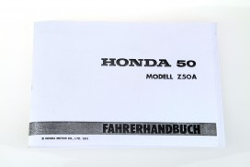 Fahrerhandbuch f. Honda Z50A