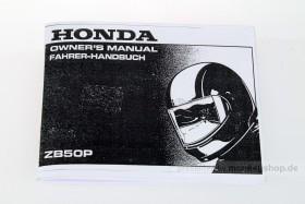 Fahrerhandbuch Honda ZB50