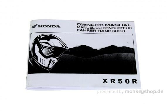 Fahrerhandbuch Honda XR50R