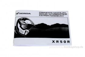 Fahrerhandbuch f. Honda XR50R