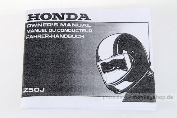 Fahrerhandbuch Honda Monkey