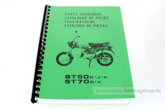 Ersatzteil Handbuch Liste Katalog f. Honda Dax 12V