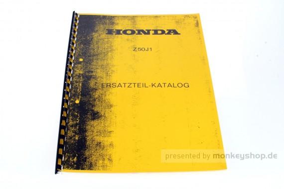 Ersatzteil Handbuch Liste Katalog f. Honda Z50J1
