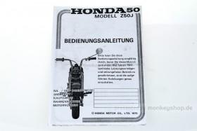 Fahrerhandbuch f. Honda Z50J1