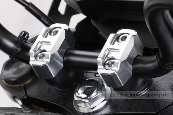Kitaco obere Lenkerklemmen Set Aluminium silber eloxiert f. Monkey 125