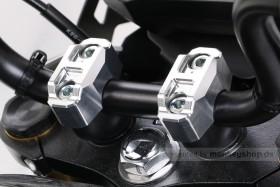 Kitaco obere Lenkerklemmen Set Aluminium CNC silber eloxiert f. Monkey 125