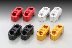 Kitaco obere Lenkerklemmen Set Aluminium CNC schwarz eloxiert f. Monkey 125