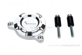 Kitaco E-Starter Deckel Aluminium CNC silber eloxiert f. MSX + Monkey 125
