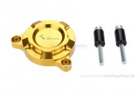 Kitaco E-Starter Deckel Aluminium CNC gelb eloxiert f. MSX + Monkey 125