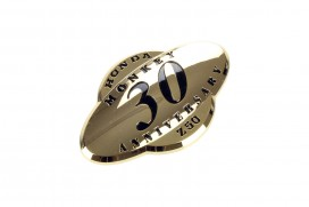 Honda Emblem Seitendeckel Monkey 30 Jahre gold