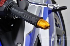 Daytona BULLET Lenkerenden Set Aluminium gold eloxiert 14 - 19 mm