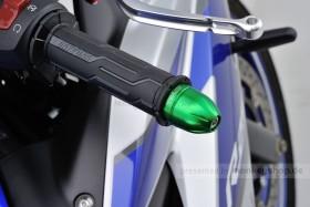 Daytona BULLET Lenkerenden Set Aluminium grün eloxiert 14 - 19 mm