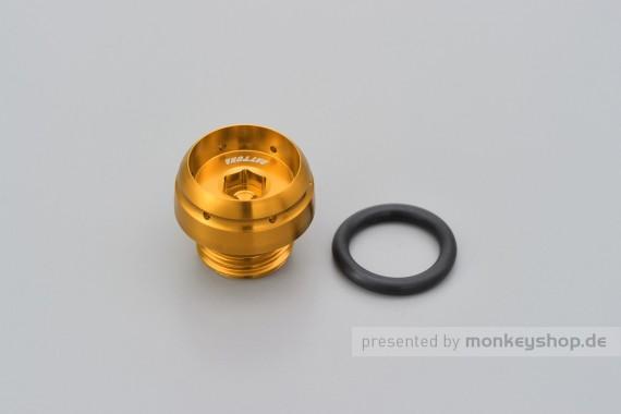 Daytona BULLET Öl Einfüll Deckel M20 x P2.5 Aluminium gold eloxiert
