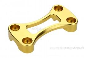Obere Lenkerklemme Aluminium CNC gold eloxiert f. MSX + Monkey 125
