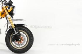 Kitaco Schutzblech Tieferlegung Down Fender Kit Alu CNC schwarz f. Monkey 125