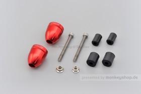 Daytona BULLET Lenkerenden Set Aluminium rot eloxiert 14 - 19 mm
