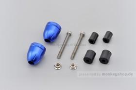 Daytona BULLET Lenkerenden Set Aluminium blau eloxiert 14 - 19 mm