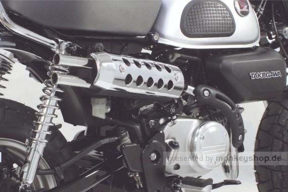 Takegawa RS Sports Twin Tail Auspuffanlage verchromt f. Monkey 125