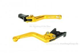 Kupplungs- & Bremshebel Set Aluminium CNC gelb f. Monkey 125 + MSX
