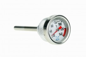 Öltemperatur Anzeige Aluminium silber lang f. MSX