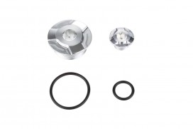 Kitaco Aluminium CNC Zündungsdeckel Schrauben Set silber eloxiert f. Super Cub + Monkey 125