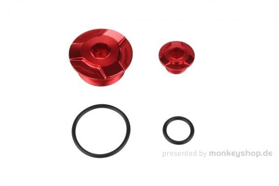 Kitaco Aluminium CNC Zündungsdeckel Schrauben Set rot eloxiert f. Super Cub + Monkey 125