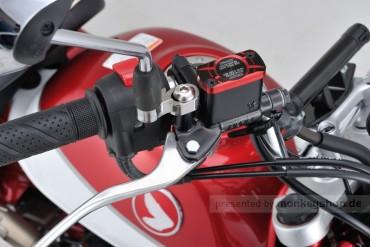 Daytona Deckel Bremspumpe 2-farbig eloxiert rot schwarz f. HONDA (H)