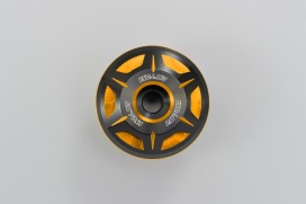 Daytona CRYSTAL Lenkerenden Set Aluminium gold schwarz 2-farbig eloxiert 14 - 19 mm
