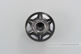 Daytona CRYSTAL Lenkerenden Set Aluminium silber schwarz 2-farbig eloxiert 14 - 19 mm
