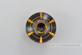 Daytona HANABI Lenkerenden Set Aluminium gold schwarz 2-farbig eloxiert 14 - 19 mm