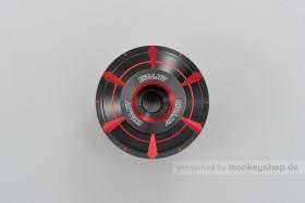 Daytona HANABI Lenkerenden Set Aluminium rot schwarz 2-farbig eloxiert 14 - 19 mm