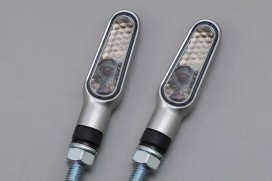 Daytona D-Light LED-Blinker Paar (satin silber / smoke)