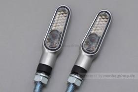 Daytona D-Light LED-Blinker Paar (satin silber / smoke)