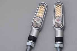 Daytona D-Light LED-Blinker Paar (satin silber / clear)