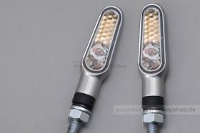 Daytona D-Light LED-Blinker Paar (satin silber / clear)