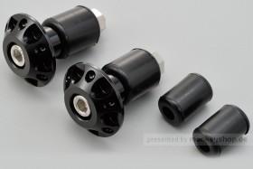 Daytona Lenkerenden Set Aluminium schwarz eloxiert 14 - 19 mm