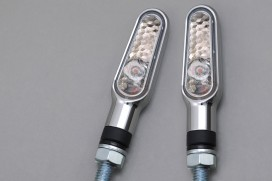 Daytona D-Light LED-Blinker Paar (chrome / clear)