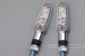 Daytona D-Light LED-Blinker Paar (chrome / clear)