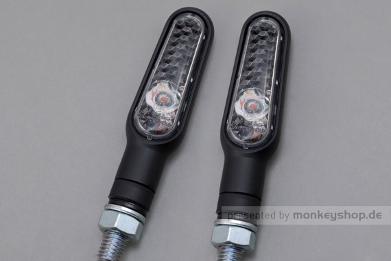 Daytona D-Light LED-Blinker Paar (schwarz matt / clear)