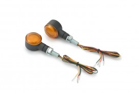 Daytona D-Light SOL-W LED-Blinker Paar (schwarz matt / orange)