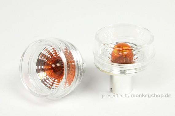 "Takegawa ""BLAZE"" Blinker Glas klar m. Glühlampen 2er Set f. Monkey + Gorilla 12V"
