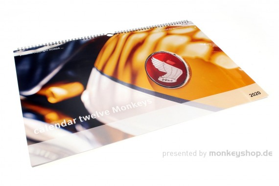 "Kalender 2020 ""twelve Monkeys"" 350x500mm Monkey 125 Motive"