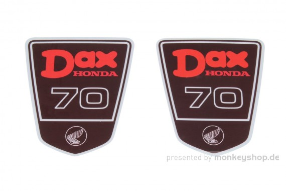 Dax 70 Rahmen Emblem Aufkleber Satz f. Dax 6 Volt