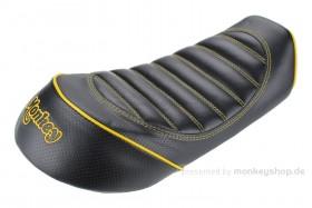 Sitzbank flach Typ Tuck Roll schwarz gelb f. Monkey 125 Z125MA