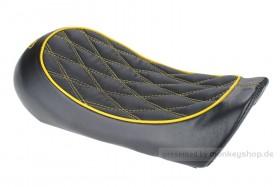 Sitzbank flach Typ Karo schwarz gelb f. Monkey 125 Z125MA