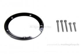 Einfassung Tankdeckel Aluminium schwarz eloxiert f. Monkey 125