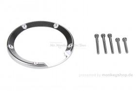 Einfassung Tankdeckel Aluminium silber eloxiert f. Monkey 125
